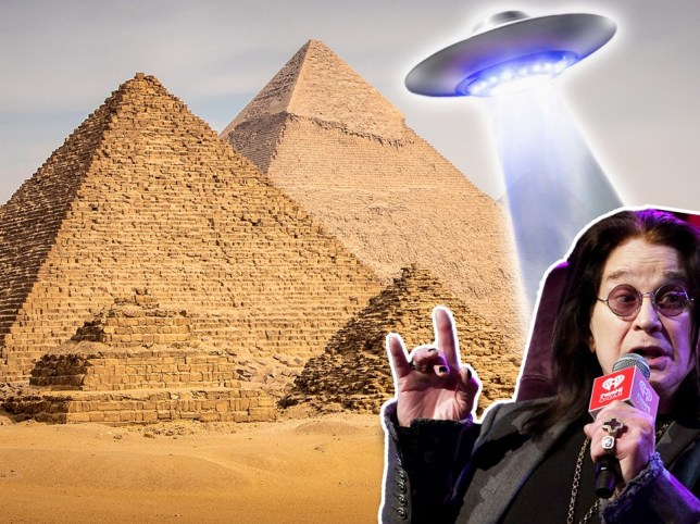 Ozzy Osbourne thinks aliens built the pyramids with UFOs