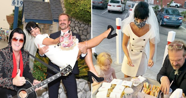 Lily Allen and David Harbour at their Las Vegas wedding