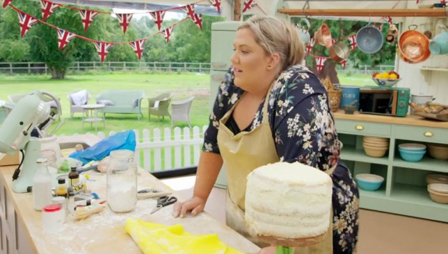 Laura on Bake Off