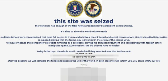 Trump events page hacked