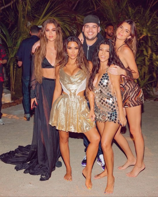 Rob Kardashian looks happy and healthy in rare outing at Kim's birthday