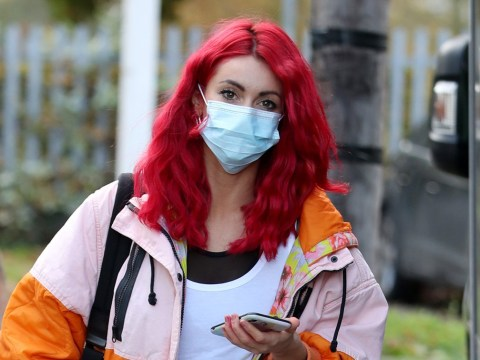 Strictly Come Dancing's Dianne Buswell and Max George arrive for rehearsals after creepy stalker message