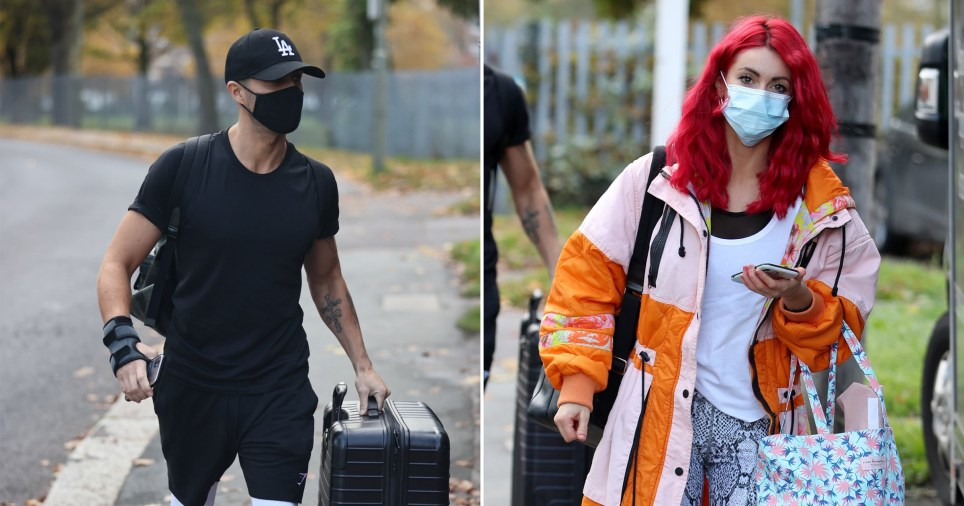 Dianne Buswell and Max George arrive for Strictly Come dancing