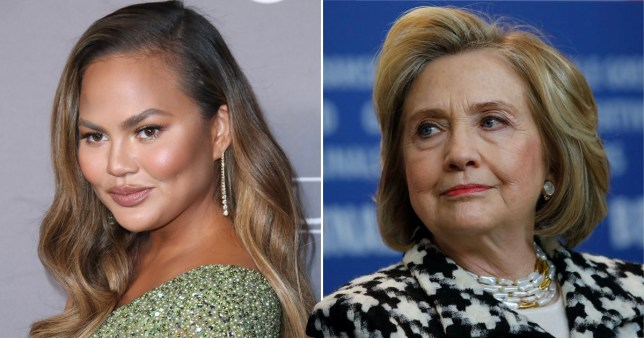 Chrissy Teigen fangirls after Hillary Clinton tweets her essay about miscarriage