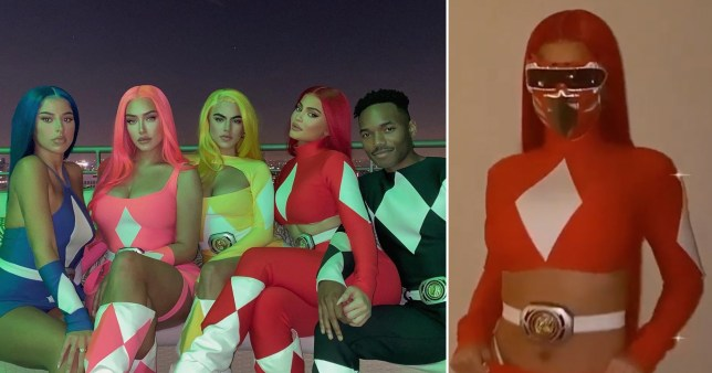 Kylie Jenner and her pals dress up as Power Rangers