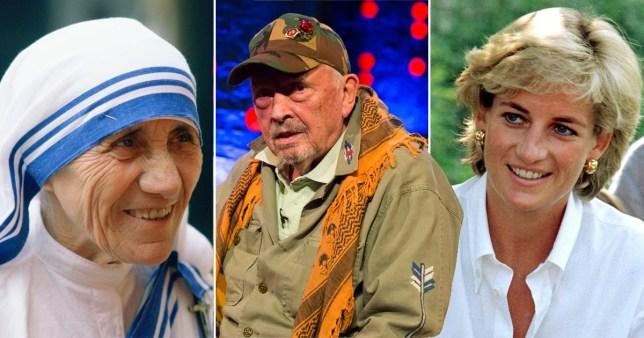 Mother Teresa, David Bailey and Princess Diana.