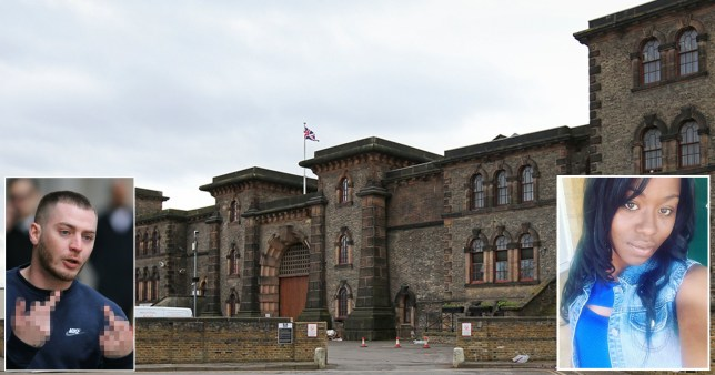 Composite image of Wandsworth prison, Craig Kearney and Acacia Smith