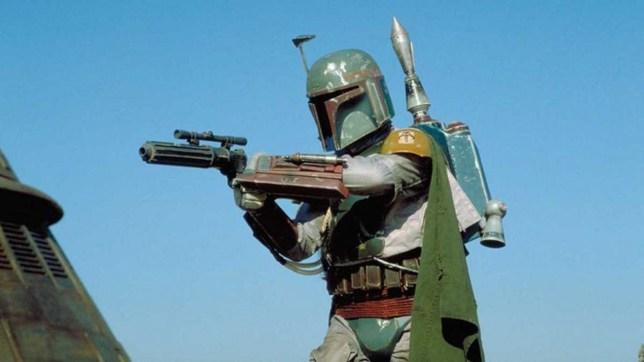 Bounty hunter Boba Fett in the Star Wars film franchise