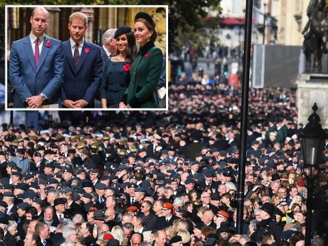 Royals and veterans 'not allowed' to sing national anthem on Armistice Day