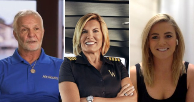 Below Deck Captain Lee, Captain Sandy Yawn and Malia White