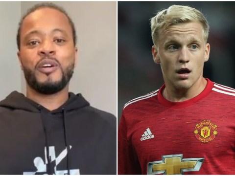 Patrice Evra backs Ole Gunnar Solskjaer's decision to bench Donny van de Beek for Manchester United