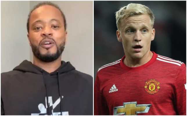Patrice Evra insists Donny van de Beek is not good enough for a starting place in Manchester United's midfield