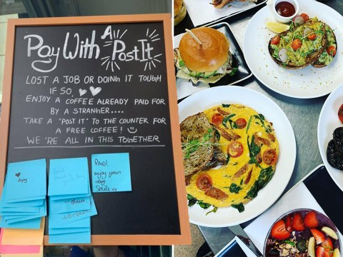 Cafe creates 'pay with a Post-it' system to help people struggling to afford a coffee