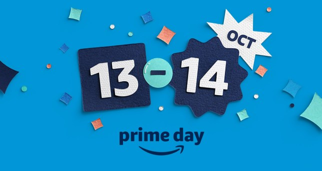 Graphic showing that Amazon Prime Day is October 13 and 14.