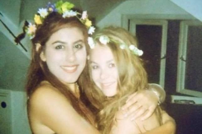 Katrina smiles next to her late friend Rachel