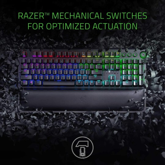 If you're going to sit at a keyboard all day, might as well be this one (Razer/Amazon)
