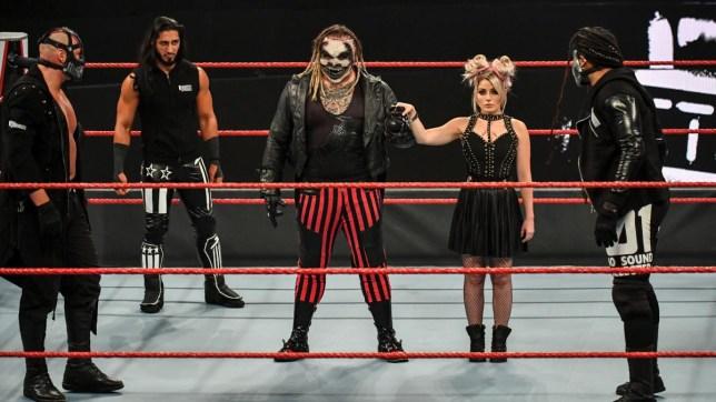 WWE superstars RETRIBUTION, The Fiend Bray Wyatt and Alexa Bliss on Raw