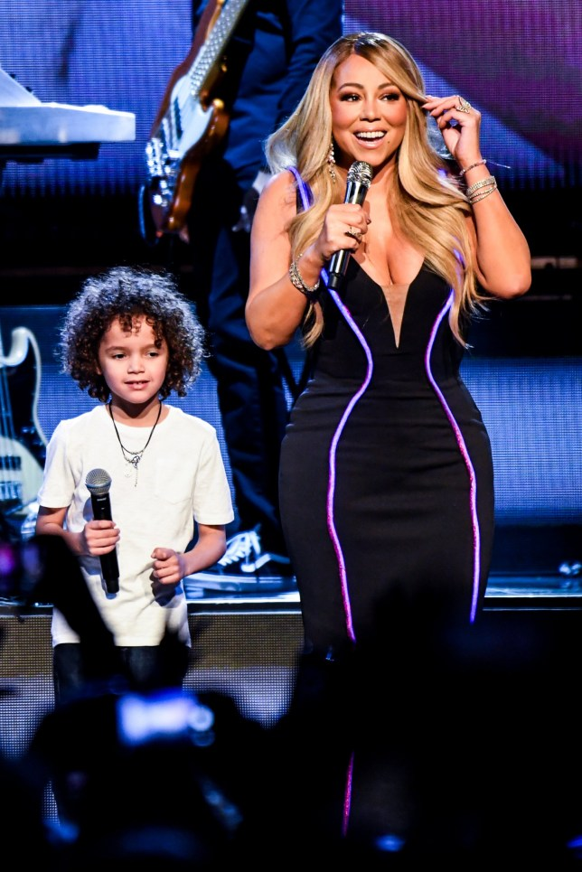 ATLANTA, GEORGIA - MARCH 05: Mariah Carey performs onstage with Moroccan Cannon during the the Caution World Tour at Fox Theater on March 05, 2019 in Atlanta, Georgia. (Photo by Kevin Mazur/Getty Images for Live Nation)
