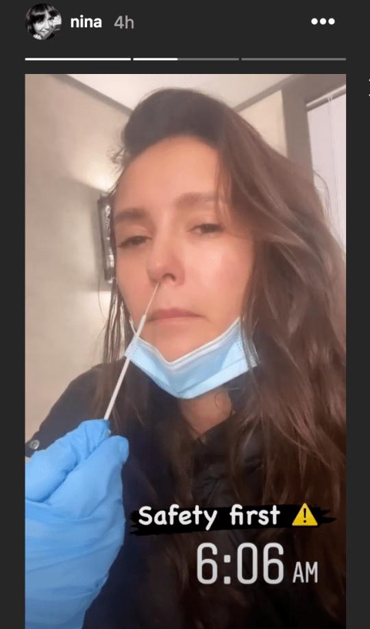 Nina Dobrev being tested for coronavirus