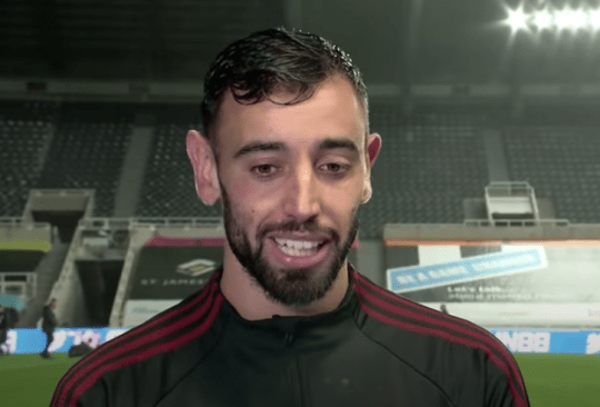 Bruno Fernandes speaks to MUTV after Manchester United's win over Newcastle