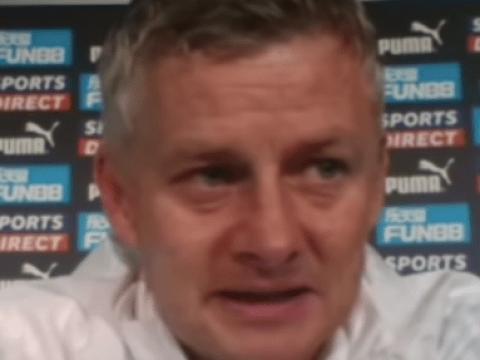 Ole Gunnar Solskjaer bites back at Donny van de Beek question after Manchester United's win over Newcastle