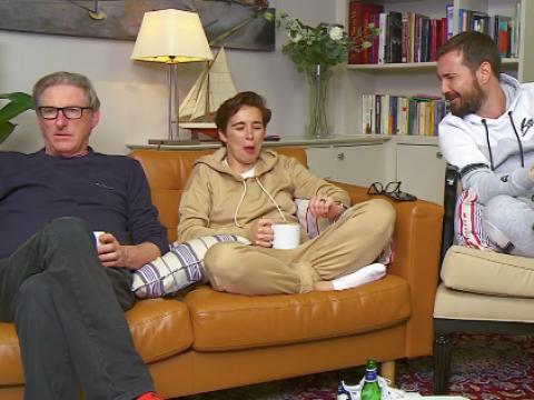 Line of Duty's Adrian Dunbar pokes fun at Nigella Lawson on Celebrity Gogglebox