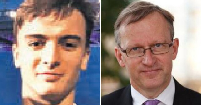 University of Manchester student Finn Kitson, who was found dead on Fallowfield campus on October 8, 2020 (left) and his father, Michael Kitson, an economist at Cambridge University's business school,