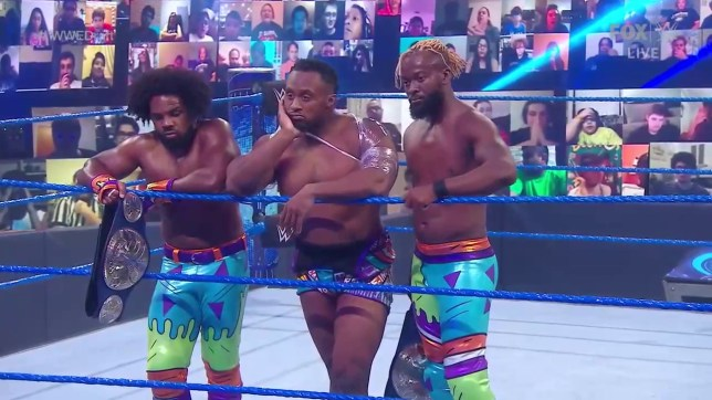 WWE superstars The New Day - Xavier Woods, Big E and Kofi Kingston - on SmackDown getting split in the draft