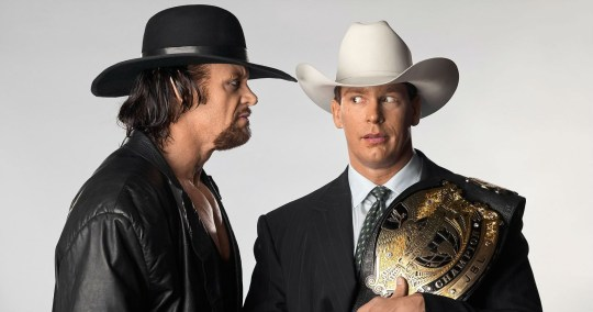 WWE legends The Undertaker and John Bradshaw Layfield