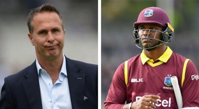 England legend Michael Vaughan slammed West Indies batsman Marlon Samuels