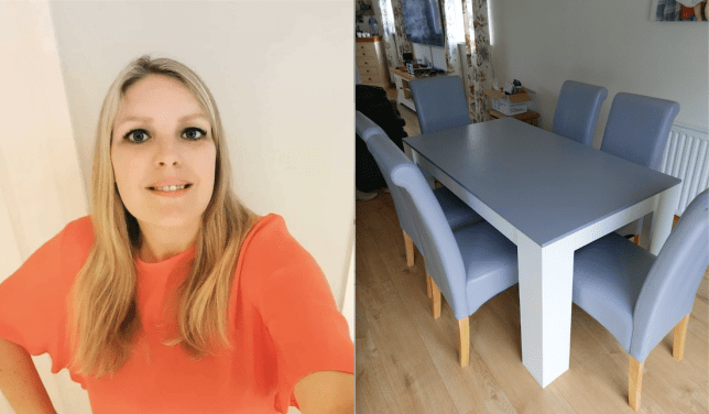 Creative Mum Upcycles Dining Furniture For Under £50 Rather Than Buying New For £££