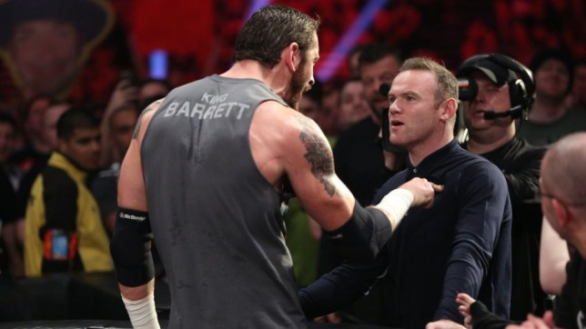 Wayne Rooney and Wade Barrett at WWE Raw
