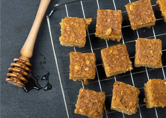 Honey and peanut butter flapjacks