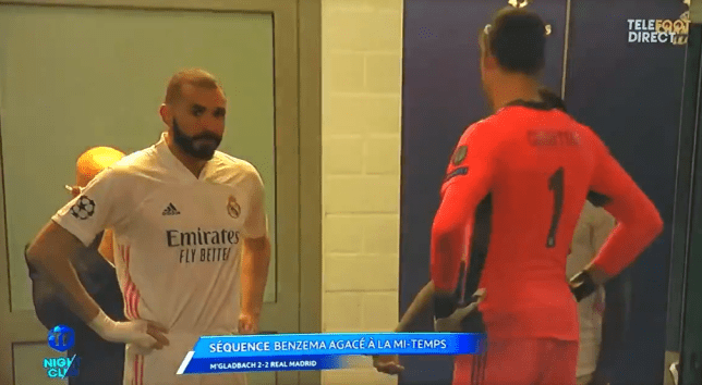 Karim Benzema has been criticised for his half-time rant about Vinicius Junior in Real Madrid's Champions League clash with Gladbach