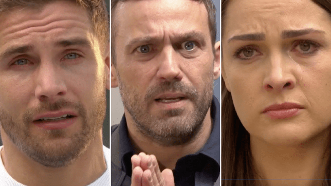 Brody, Warren and Sienna in Hollyoaks