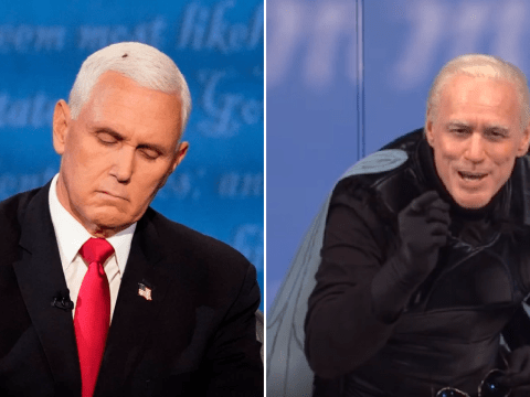 Jim Carrey's Joe Biden becomes 'the fly' on Mike Pence's head as SNL takes on vice-presidential debate