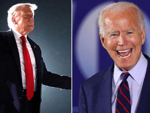 Donald Trump shares tweet calling him 'God's warrior' and claims Joe Biden has dementia
