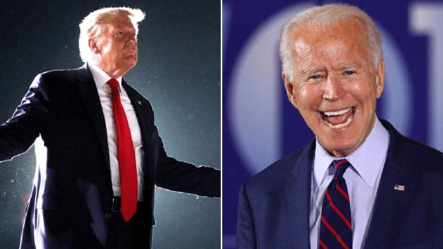 Donald Trump and Joe Biden at their latest rallies