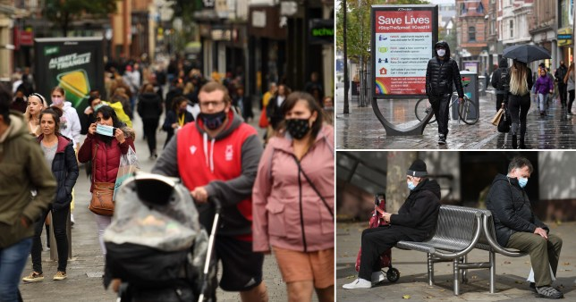 Shoppers go out in Nottingham, currently the worst affected city for coronavirus in the UK