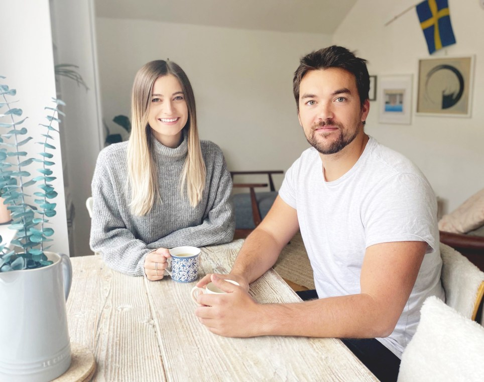 What I Rent: Daisy and Fred, Hackney, sitting at the table in their rented home