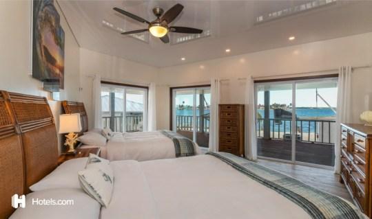 inside a house on a private island off the coast of florida