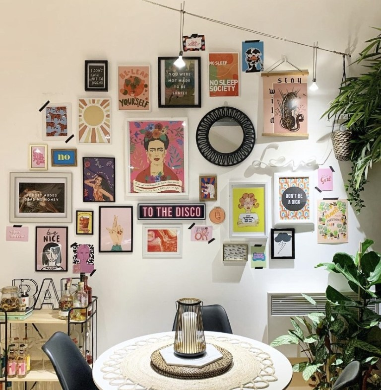 what i rent: Cara and Nat, new islington, manchester - gallery wall of images
