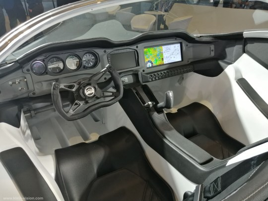 The cockpit of the AirCar