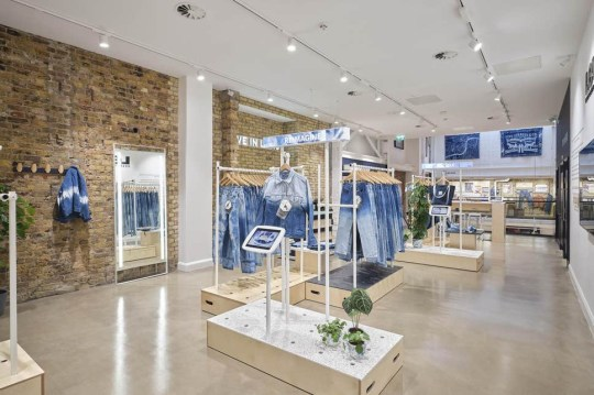 inside the new Levi's store in soho