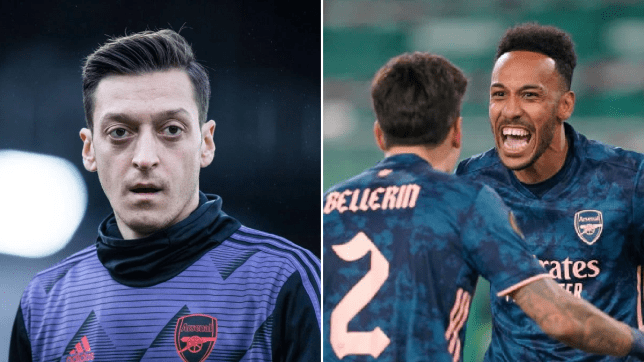 Mesut Ozil reacts to Arsenal's comeback win against Austria Vienna and sends message to Bernd Leno after mistake