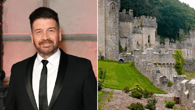 Nick Knowles and The I'm A Celebrity castle