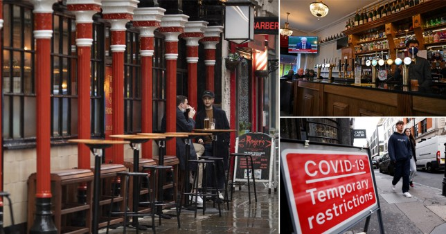 New tier 2 rules for London mean people can only visit pubs with people they live with (Picture: Reuters/Getty)