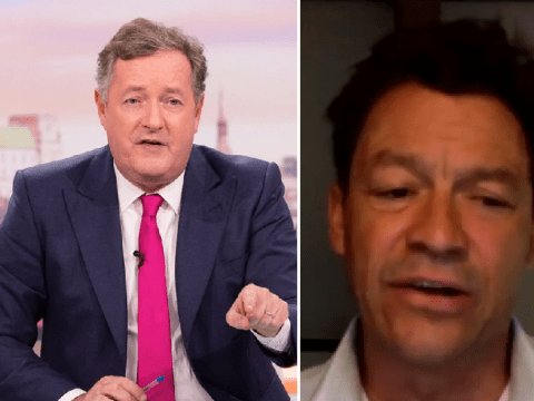 Piers Morgan hits out at Dominic West for telling Kate Garraway he 'leapt for joy' hearing Trump's coronavirus
