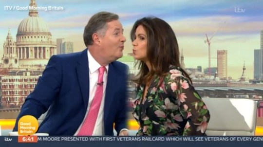 Piers and Susanna kiss GMB (Picture: ITV)