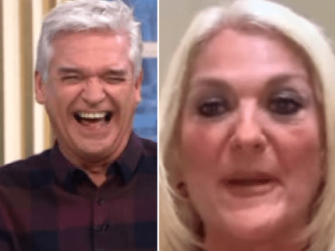 Holly Willoughby and Phillip Schofield in stitches as Vanessa Feltz fumes at caller complaining about husband using a towel